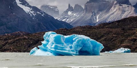 Platja Llac Grey. Parc Nacional Torres del Paine