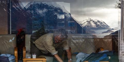 Hotel Grey. Parc Nacional Torres del Paine. Xile